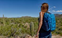 Desert hike Stock Images