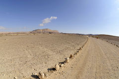 Desert hike in Negev. Royalty Free Stock Photos