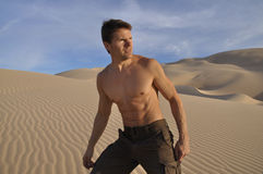 Desert hiker Stock Photography