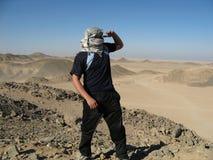 Desert hiker Royalty Free Stock Image