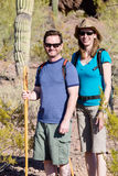 Desert Hiker Couple Royalty Free Stock Photography