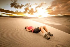 Desert Hiker Royalty Free Stock Image