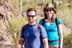 Desert Hikers Royalty Free Stock Photo
