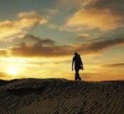 Desert hiking stock photography