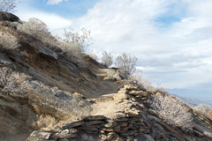 Desert Hiking trail along the side of a cliff Royalty Free Stock Photo