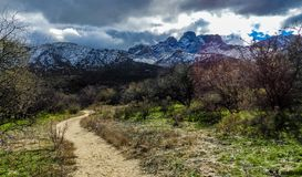 Desert Hiking Trail. Tucson Arizona stock photos