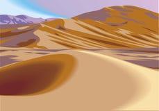 Desert hills. Illustration  as nice natural background Stock Photography