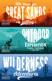 Desert Horizontal Banner Set Royalty Free Stock Photo
