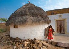 Desert House. The village of Khuri is nowadays mainly known for touristic camel excursions over the near sand dunes in the Khar desert near the indian border Royalty Free Stock Photo