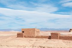 Desert house in morocco Royalty Free Stock Photos