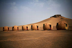 Desert houses Royalty Free Stock Photos