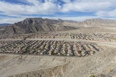 Desert Housing near Las Vegas Royalty Free Stock Photos