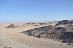 Desert of Hurghada. The rocky desert of Hurghada in egypt Stock Images