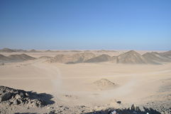 Desert of Hurghada. The rocky desert of Hurghada in egypt Royalty Free Stock Image