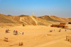 Desert hurghada stock photography