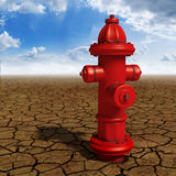 Desert hydrant. High resolution 3D rendering of a red hydrant in the desert Royalty Free Stock Photos
