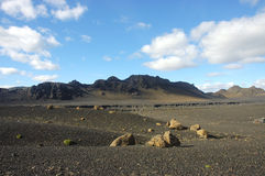 Desert in Iceland. Royalty Free Stock Photography