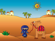 Desert illustration stock photography