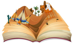 Desert. Illustration of a book of desert Royalty Free Stock Images