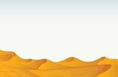 Desert. Illustration of a scene of a desert Stock Photography