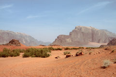 Desert In Wadi Rum Stock Photo