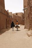 Desert inhabitants with donkeys Royalty Free Stock Photo