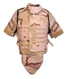 Desert interceptor body armour Stock Photo