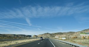 Grants, New Mexico area I-40 highway with billboards