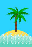 Desert island Royalty Free Stock Photography