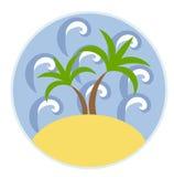 Desert island Stock Images