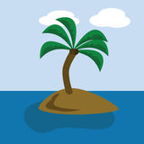 Desert island royalty free illustration