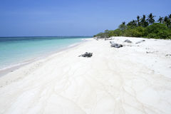 Desert island beach white sand philippines Royalty Free Stock Images