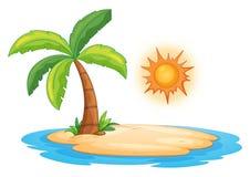 Desert island. Illustration of a desert island Stock Images
