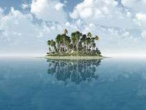 Desert island royalty free stock images