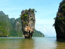 Desert island. James bond island in the Andaman sea, Thailand Stock Image