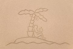 Desert Island man stock images
