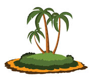 Desert island with palm trees Royalty Free Stock Photo