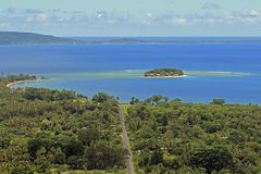 Desert island in Port Vila, Vanuatu, South Pacific Stock Photos
