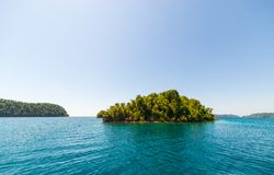 Desert island in the Togian archipelago Stock Photos