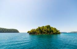 Desert island in the Togian archipelago Stock Photos