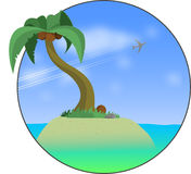 Desert Island. Vector illustratin of desert island Stock Photography