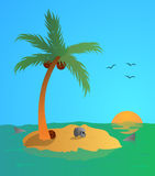 Desert island. Vector illustration of Desert island Stock Photos