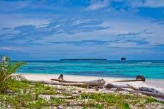 Desert islands. In the Indian Ocean, Banyak Archipelago, Indonesia Stock Image