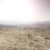 Desert in Israel at sunrise Royalty Free Stock Photo