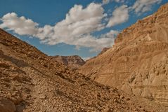 The desert and its mountains Royalty Free Stock Image