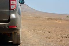 Desert Jeep. Cabo Verde Volcanic Rock Desert Safari on a 4 Wheel Drive Jeep (SAL stock photo