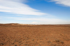 Desert  in Kazakhstan Royalty Free Stock Photography