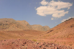 The desert and Kuhrud mountains near Yazd city, Iran. Royalty Free Stock Photos