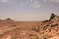 The desert and Kuhrud mountains near Yazd city, Iran. Royalty Free Stock Photography