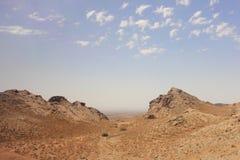 The desert and Kuhrud mountains near Yazd city, Iran. Stock Image